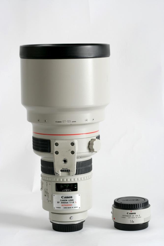 200mm F:1.8 + 1.4 extender £65 per day