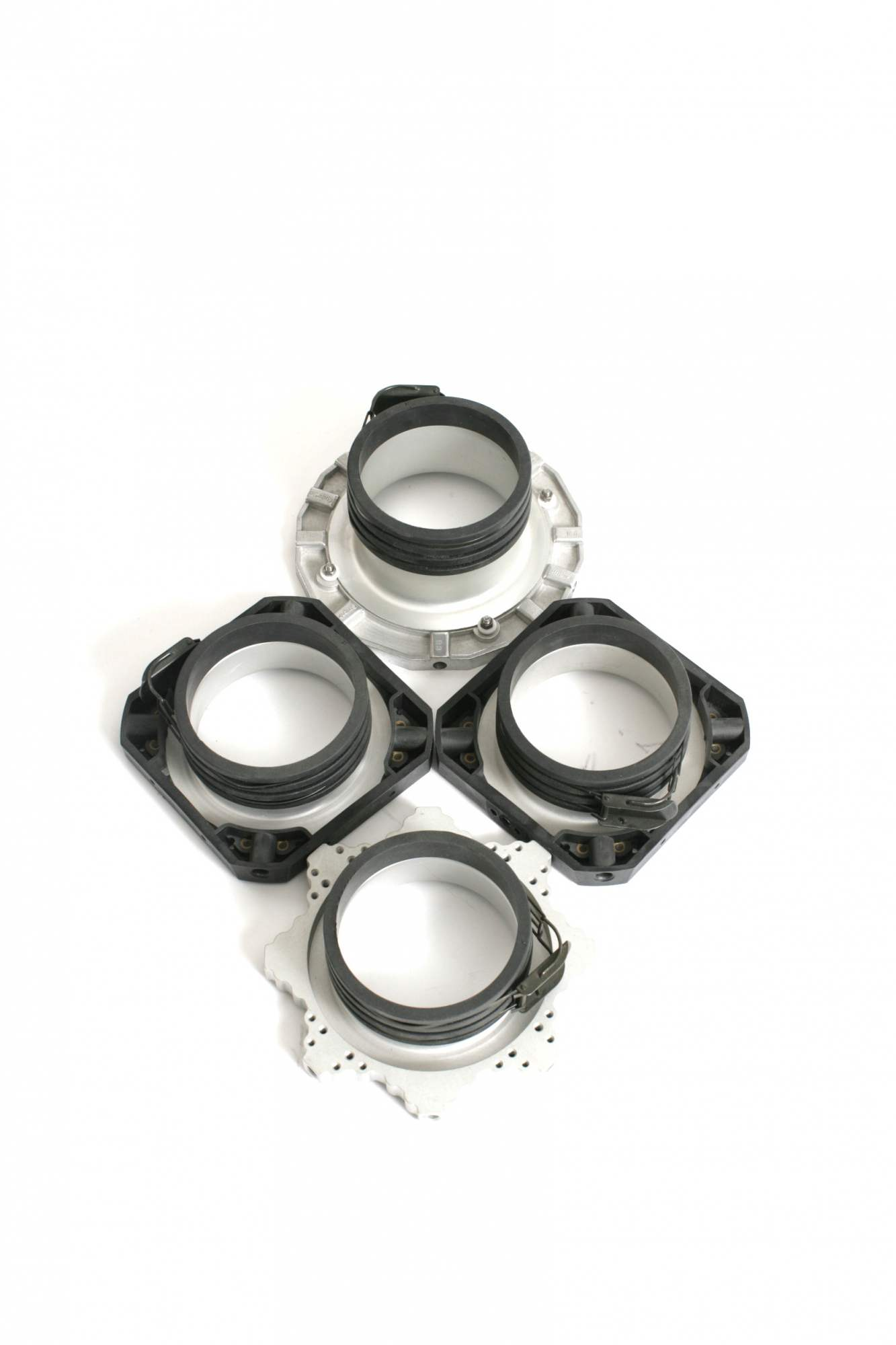 4 x Profoto speed rings. Included with Chimera soft boxes.
