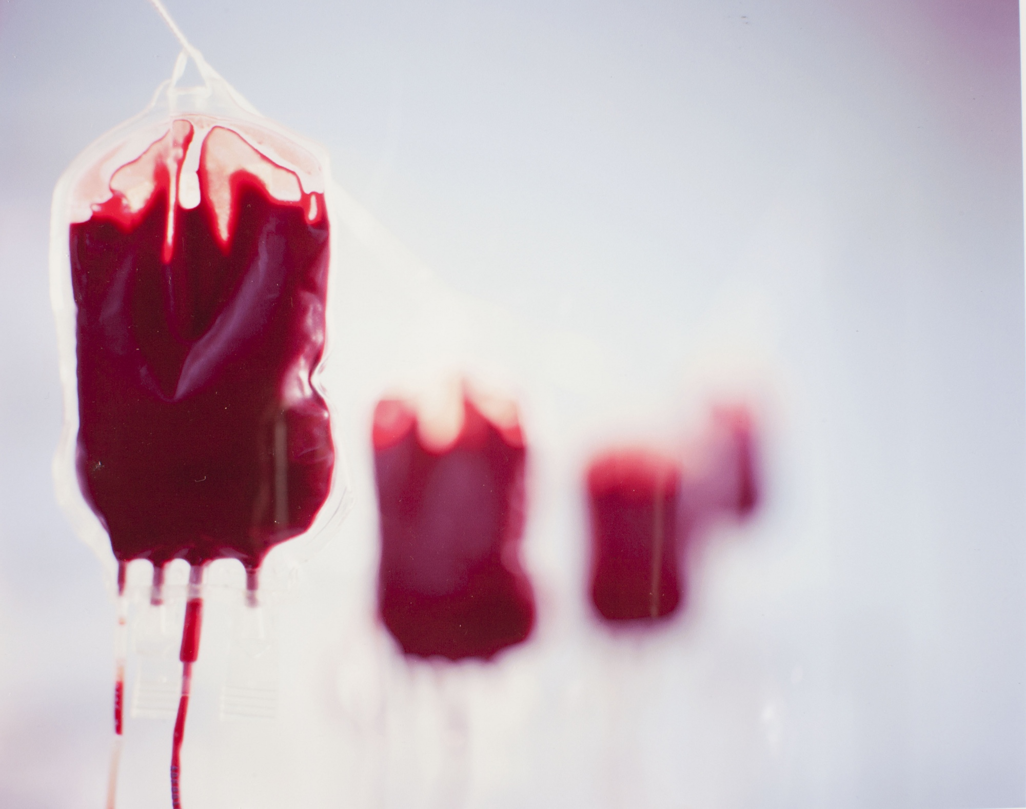 Hanging Blood. Advertising. Getty Images, stock photography.  Photographicworkshopslondon.com, Learning Photography, Film photography courses London